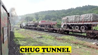 Ernakulam Delhi Duronto Chugs Nivasar Tunnel Kondvi Bridge