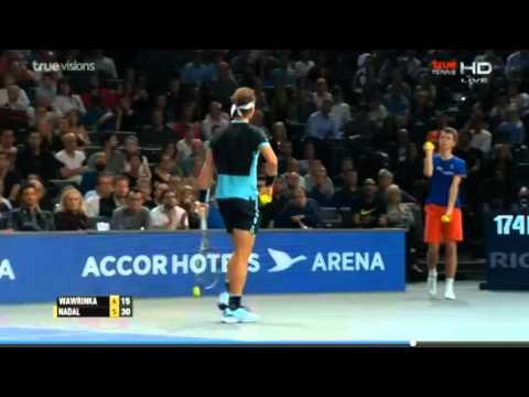 Rafeal Nadal vs Wawrinka  | Paris Master 2105  -  HighLights