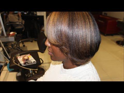 Salon Work Half Head Of Highlights Youtube