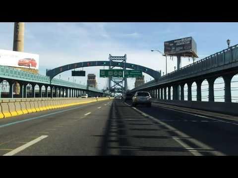 Benjamin Franklin Bridge eastbound