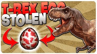 STOLE the T-REX EGG, CAN IT HATCH? SKILLS UPDATE! - Jurassic Survival Gameplay Android