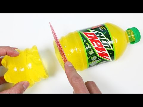 How to Make Mountain Dew Gummy Soda Bottle Shape Fun & Easy DIY Jelly Dessert!