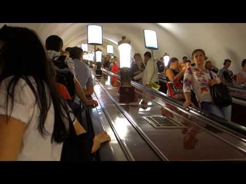 St. Petersburg Metro—Take a People-Watching Ride on a Long Escalator