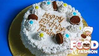 Birthday Vanilla Cake|| ভ্যানিলা কেক|| জন্মদিনের কেক||