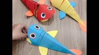 Làm chú cá chuyển động cho bé yêu | Đồ Chơi Xếp Giấy Sáng Tạo | aFamily tips