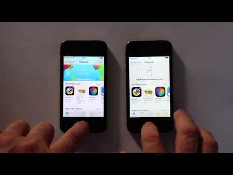iPhone 4S iOS 7.1.2 vs 8.0.2
