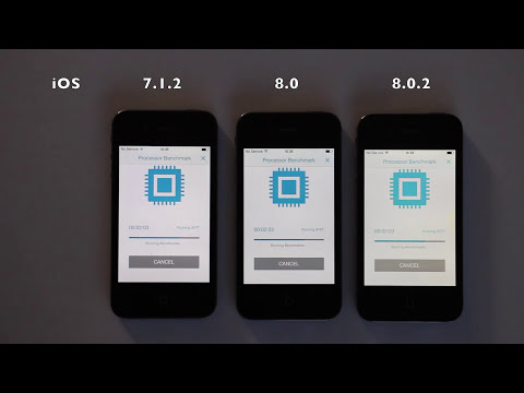 iPhone 4S iOS 7.1.2 vs 8.0.2
