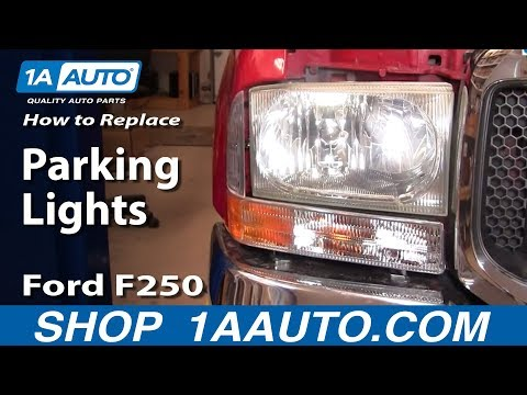 How To Install Replace  Parking Light 99-04 Ford Super Duty F250 F350 1AAuto.com