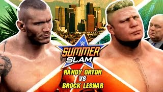 WWE Summerslam 2K16 - Brock Lesnar vs Randy Orton - Epic Highlights