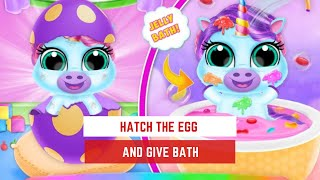 Fun Kids Game -  Baby Unicorn Pet Nursery -  Care and Dress up  -  Games For Kids