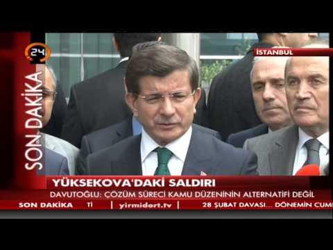 Başbakan Davutoğlu'ndan Yüksekova açıklaması