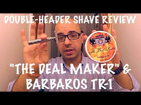 "Shave Review Double Header - The Shaving Shop ""The Deal Maker"" and Barbaros Razors TR 1"
