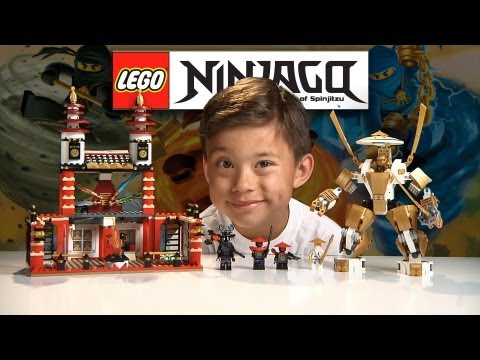 TEMPLE OF LIGHT - LEGO NINJAGO Set 70505 - Time-lapse Build. Unboxing & Review GOLDEN NINJA POWER!