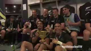 Rugby World Cup 2015 Final - All Blacks Changing Room Post Match