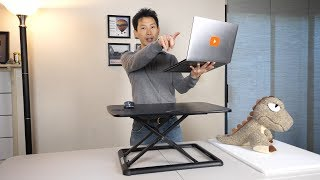 Low Cost Standing Desk Conversion for a Laptop