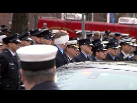 Firefighters gather for funeral of Edward Walsh Jr.