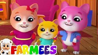 três pequenos gatinhos | canções para crianças |  canções crianças | Three Little Kittens Song