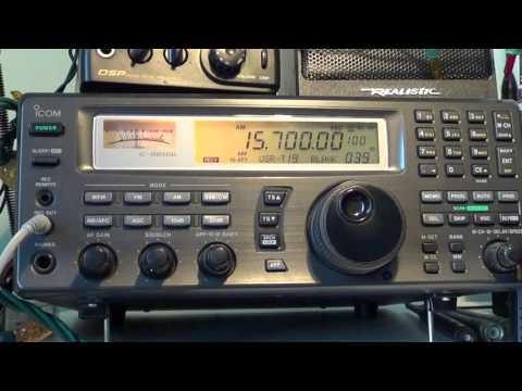 China Radio International via Cuba relay 15700 Khz Shortwave