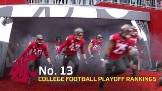 Washington State football earns No. 13 spot in week 13 CFP rankings