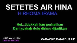 Download lagu SETETES AIR HINA KARAOKE DANGDUT HD