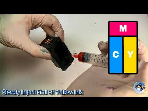 How to Refill Canon CL-513 Colour Ink Cartridge