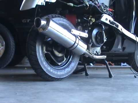 P&P Exhaust Sound On 72cc 139QMB GY6 50 Scooter