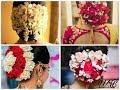 Best Bun With Real Flower Gajra /Bun HairstyleFor wedding 2018