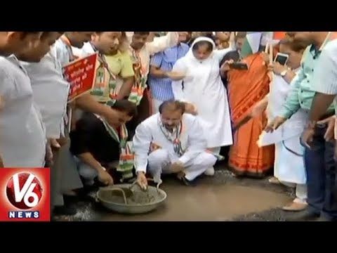 Mumbai Congress Launches Campaign To Count Potholes In City | V6 News