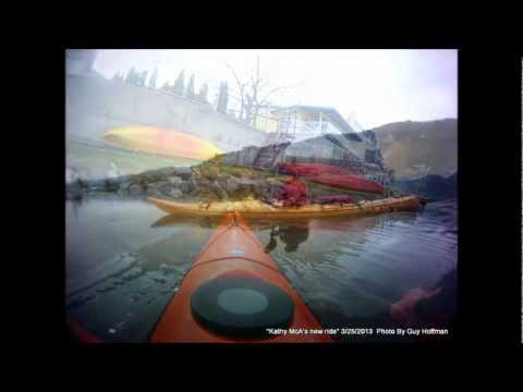 """Kayaker: Kathy McA's New Ride (17' Current Designs """"Storm"""") 03-25-2013"""