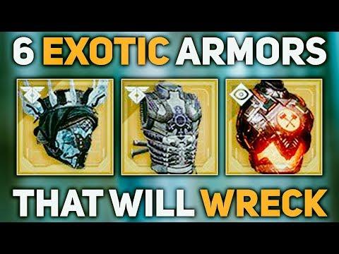 6 Exotic Armors THAT WILL WRECK in Forsaken   Destiny 2 Forsaken thumbnail