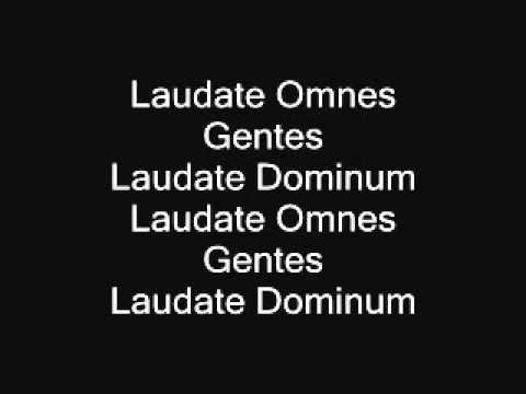 Laudate omnes gentes - alto (Taize Chant)
