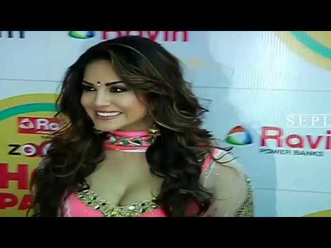 Sex Bomb Sunny Leone Wearing Transparent  Zoom Party Looks Hot video