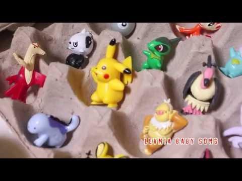 150 Super Surprise Eggs many POKEMON   POKE BALL PIKACHU   learn colour   nursery   pokemon go