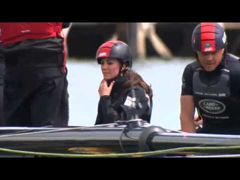 The Duchess of Cambridge hits the waves