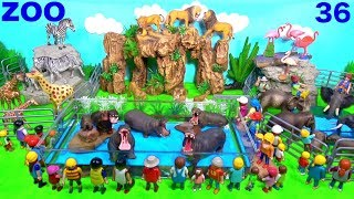 Wild Zoo Animal Toys For Kids -  Learn Animal Names and Sounds - Learn Colors with Animals36