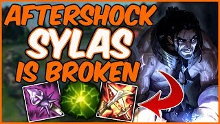 CHALLENGER SYLAS - AFTERSHOCK IS UNBEATABLE - League of Legends Full Game Commentary
