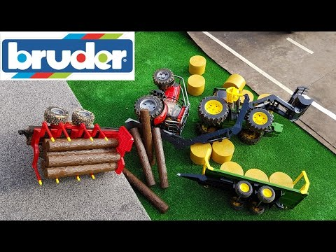 BRUDER toys RC tractors CRASH!