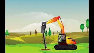 Digging machine for Kids: Learn Colors with Heavy Vehicles and Digging machine for Children Videos