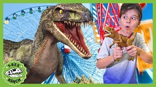 Dinosaur Raptor Showdown! Adventure Park Challenge & Pretend Play Life Size Dinosaurs for Kids!