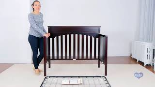 Delta Children Bennington Lifestyle 4 in 1 Crib Assembly Video