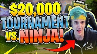 $20,000 Game VS. NINJA & King Richard (Fortnite Battle Royale)