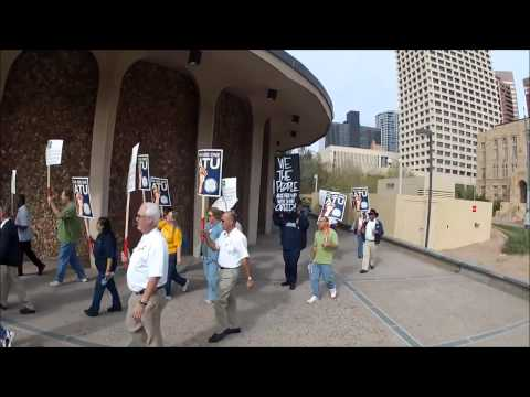 ATU pickets the Phoenix City Council Meeting