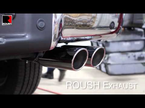 2011+ ROUSH Performance 5.0L F-150 Exhaust - Stock vs. ROUSH
