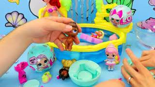 LOL Surprise Memaid Doll Series Unboxing & Swimming In Ariel Pool