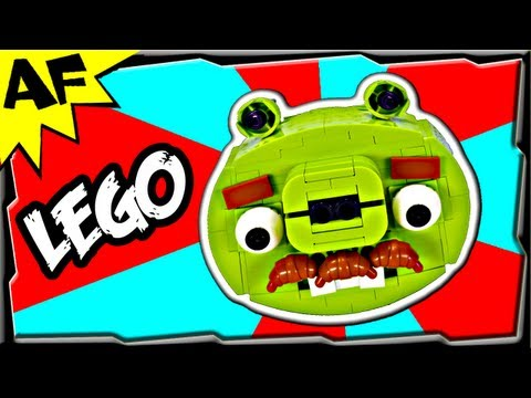 MOUSTACHE PIG - Lego Angry Birds Animated Review with Building Instructions