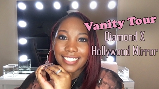 Vanity Tour | Diamond X Collection Hollywood Mirror | LongHairPrettyNails