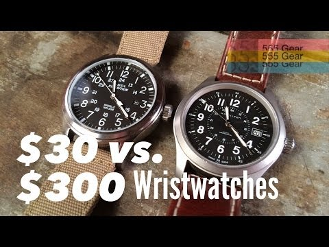 $30 Watch Vs. $300 Watch: What's the Difference? Featuring the Hamilton Khaki & Timex Expedition