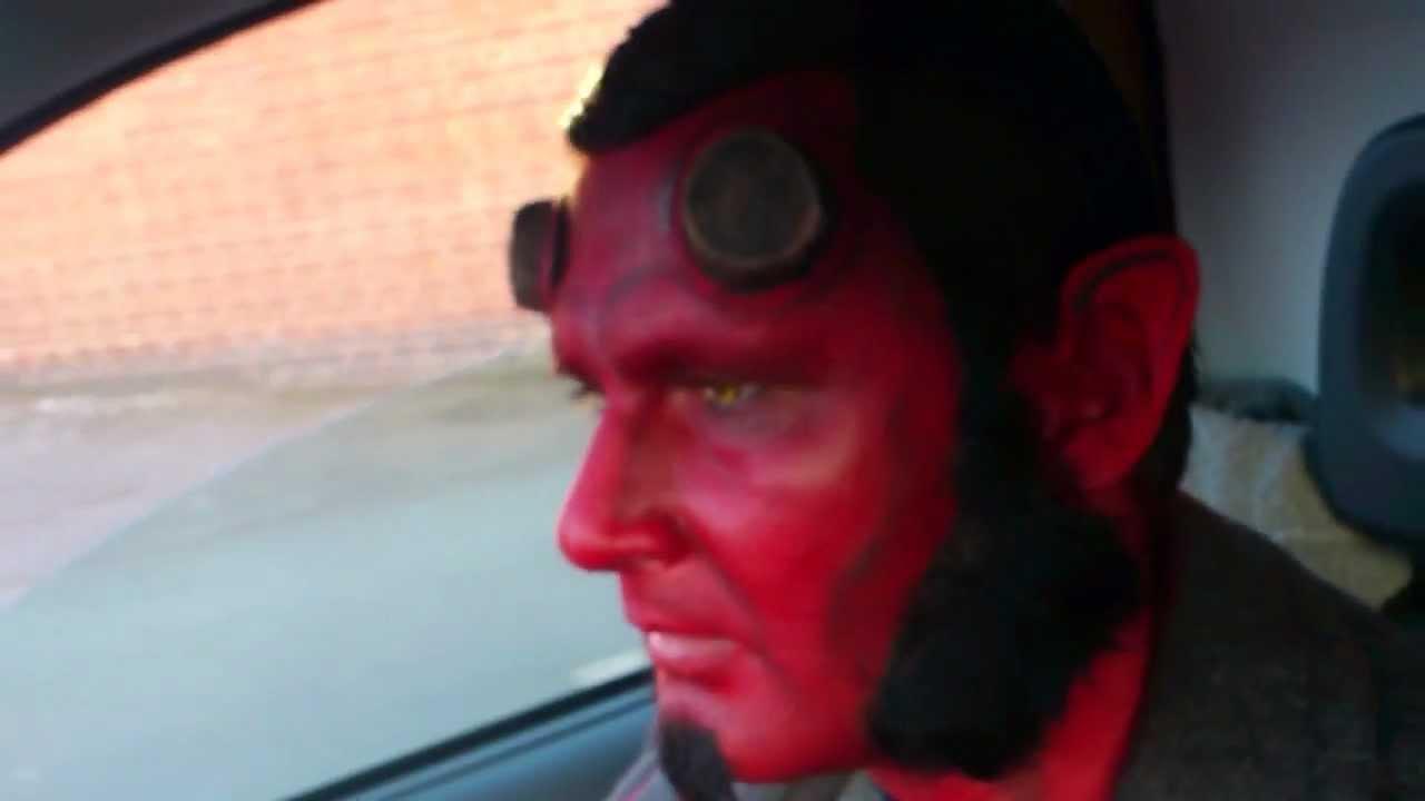 Hellboy Roadrage Makeup,hair