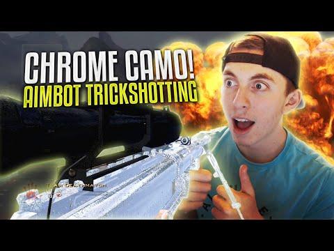 CHROME CAMO?! ft. Nudah, Crude [AIMBOT TRICKSHOTTING]