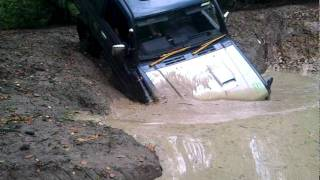 Old Clip - Mitsubishi Pajero - Deep Water Crossing - Fourmarks - Brick Kiln Farm